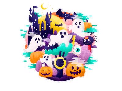 Halloween draw icons branding vector graphics brand design illustration