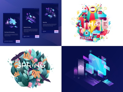 My top 4 of 2018 crypto web gradient vector ios logo ux ui identity graphics branding draw design illustration