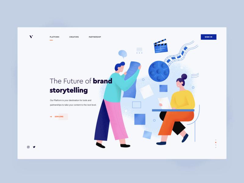 Illustration for the platform mark web vector logo ux ui graphics branding draw brand design illustration