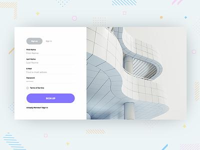 Sign-Up page design design cards login page web webpage signup sugnup minimal uidesign visual uichallenge dailyui