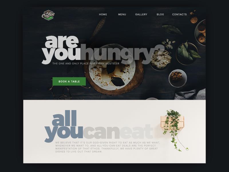 Landing Page Design uidesign designers minimalist landing page typography ui ux food hero image dailyuichallange webpage web