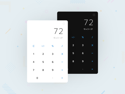Calculator Design - Day 004 calculator collectui colors daily android ios uidesign uichallenge screen app