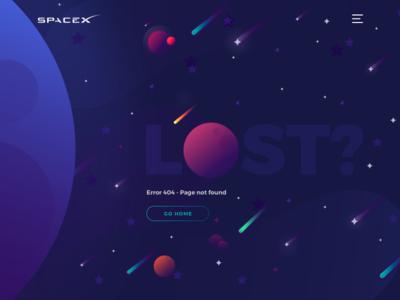 Error 404 - Page not found design