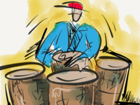 100 Days of Jazz - Conga Player