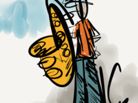100 Days of Jazz - Trombone Saxophone Player