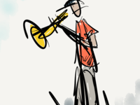 100 Days of Jazz - Trumpet Player