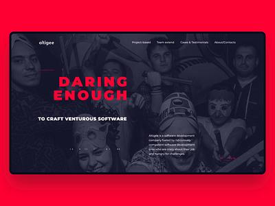 Altigee Website webdesign typography design branding graphic design happy animation