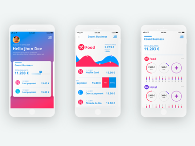 Financial Control - UI App app design finance ui design