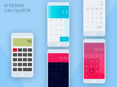 Calculators UI design schetch ui calculator