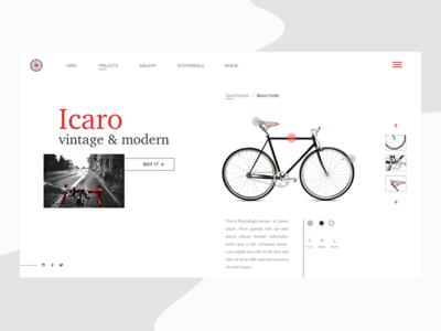 Bike UI lnding page ecommerce bike user interface ui