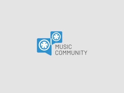 Music Community Logo community music logo design logo