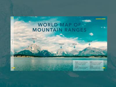 UI site of Mountain map site design uidesign mountain range