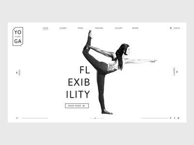 Yoga Site sitedesign website design ui uidesign yoga
