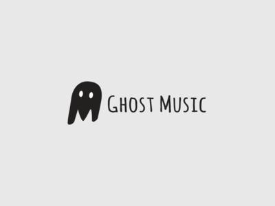 Logo for Record Company brand identity graphic design illustrator logo record company ghost