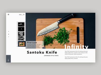 Knife Website concept food web ui uidesign knife concept