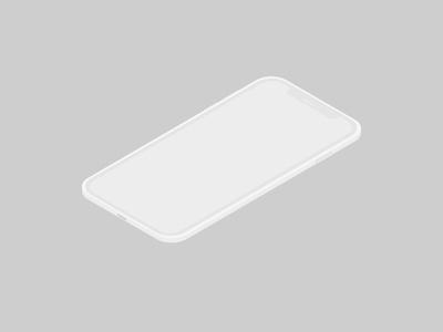Isometric Iphone X Vector iphone isometric isometric mockup ui illustrator