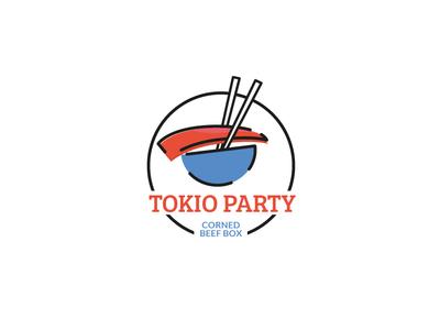 Tokio restaurant concept logo japanese food design tokio concept logo restaraunt