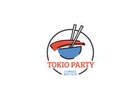 Tokio restaurant concept logo