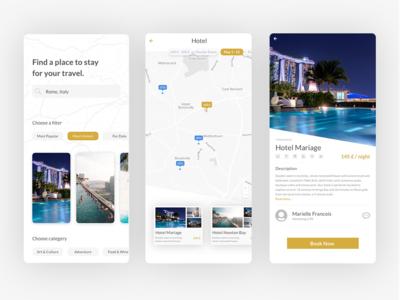 Travel Hotel App ux design ux ui ux design ui ux ui design ui travel minimalist inspiration hotel app home app destinations design app design
