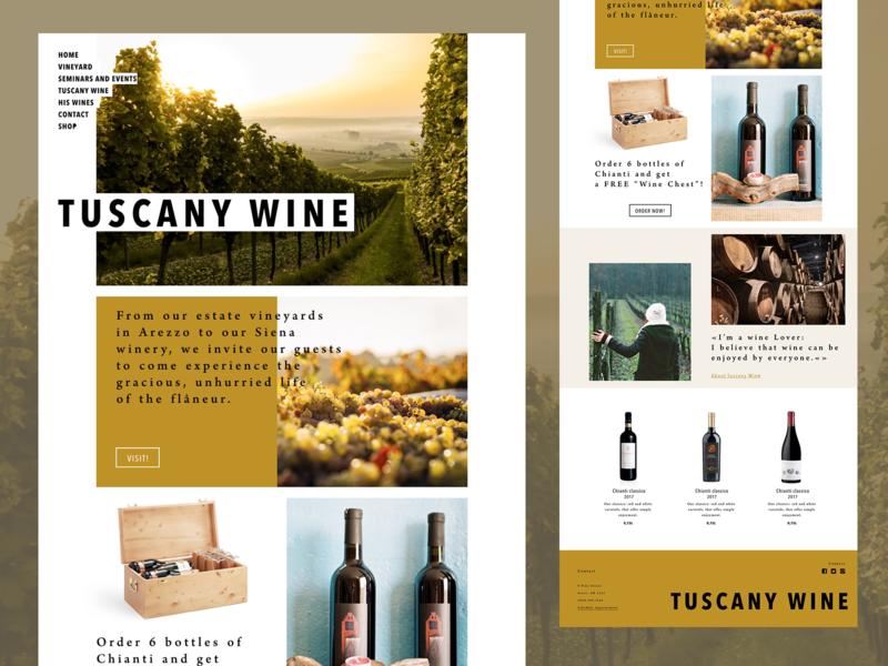 Tuscany Wine landing concept ladingpage landing webdesign wine ux ui design