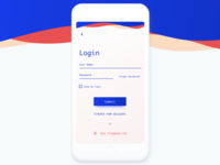 Login or use fingerprint - UI concept
