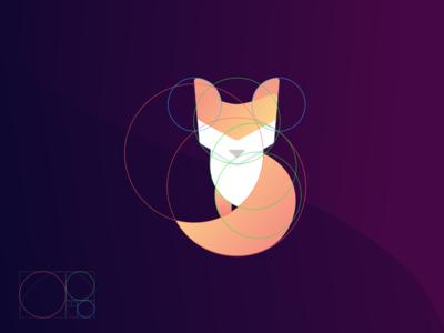Foxy Finance App Icon expenses split share iphone ios app ui logo fox purple splash finance money