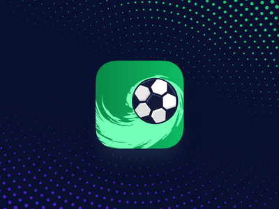 ⚽️ Soccer App Icon movement football green simple andrind ios soccer icon app