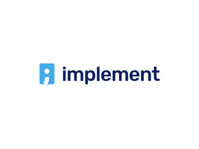 Implement, development house logo logo brand identity code programming logotype semicolon lertter i
