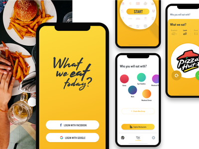 🍔 What we eat today? app group breakfast dinner lunch research restaurant food app ui  ux food