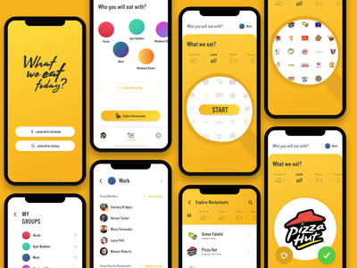 🍔 What we eat today? food ui  ux food app restaurant research lunch dinner breakfast group app