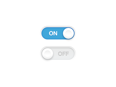 Simple Toggle Switch (PSD) toggle switch ui ui design toggle switch button blue blue button ux knob white simple minimal flat design flat on off on off light ui app design app iphone ios freebie psd free psd download free download