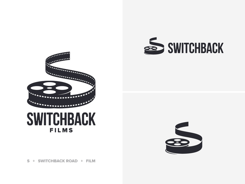 Switchback Logo wordmark road reel production film switchback logo design logo