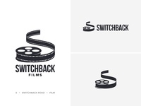 Switchback Logo wordmark road reel production film switchback logo design logo