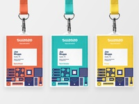SpiceWorld 2020 Badges attendee badge lanyard pass event brand branding event it conference badge design id badge conference