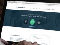 Homepage Header & Welcome