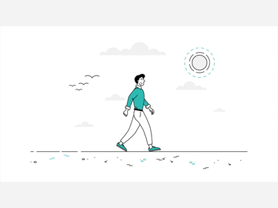 Where Data Drives Decisions 1/4 leaves circus tightrope walking walk character line illustration video