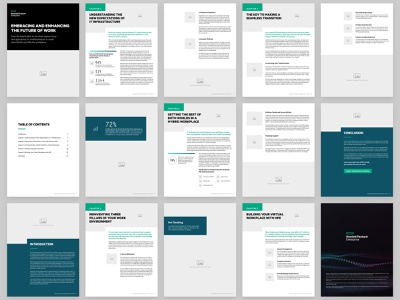 eBook Wireframe wfh it tech print indesign layout book pages wireframe design ebook