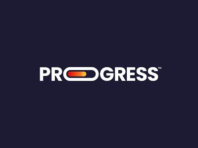 Progress Logo branding brand mark brand gradient loading progress wordmark mark logo logo design