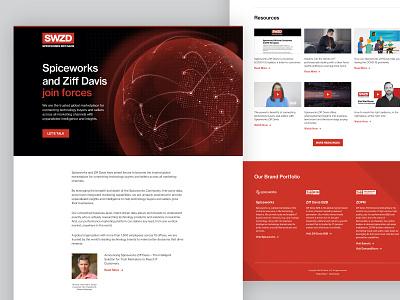SWZD Splash Page web design landing page splash page website design website