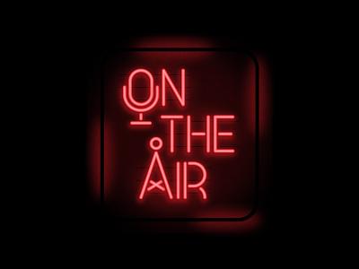 Neon Sign sign light on air show logo logo designs logo neon sign neon