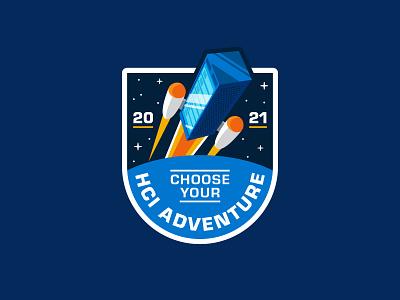 Mission Patch 🚀 adventure lift off launch rocket mission space logo design logo badge patch