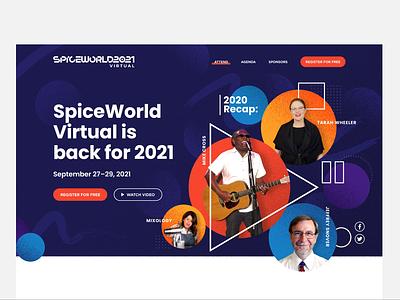 SpiceWorld 2021 Hero event branding events tech conference swzd spiceworks austin tech festival conference it event branding spiceworld