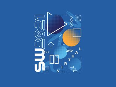 SpiceWorld 2021 T-shirt virtual tech conference pattern illustration graphic print tee t-shirt