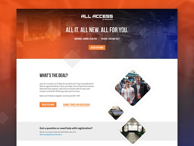 All Access Landing Page