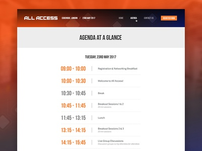 All Access Schedule Page