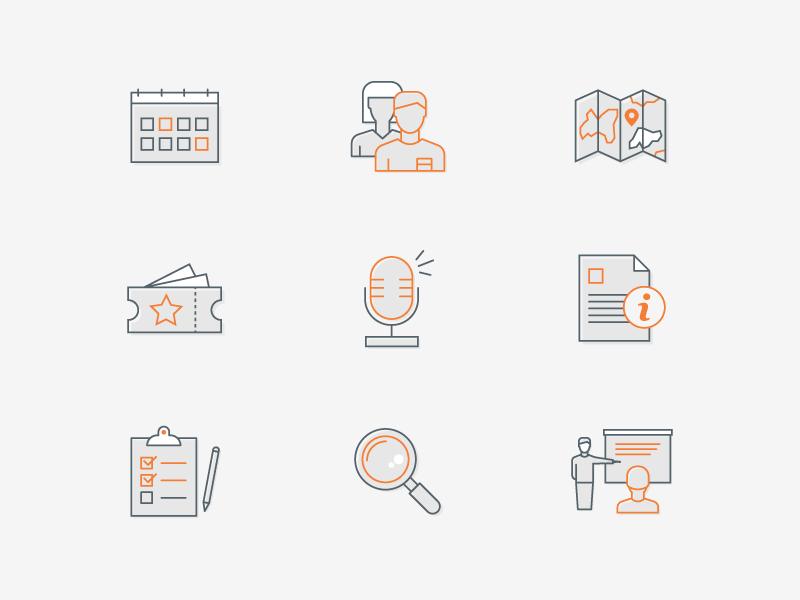 Event app icons