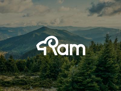Ram wordmark idea line simple ram logo logo design