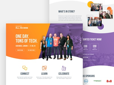All Access 2019 Website purple orange event branding event icons web design landing page website all access