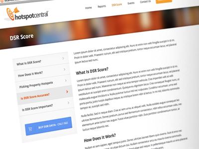 Hotspot Central - Sub-page/Widget Design
