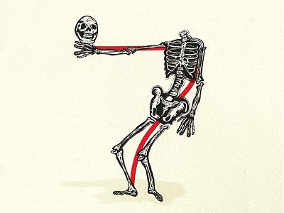 36 days of type – number 7 skeleton illustration number7 lettering typography 36daysoftype